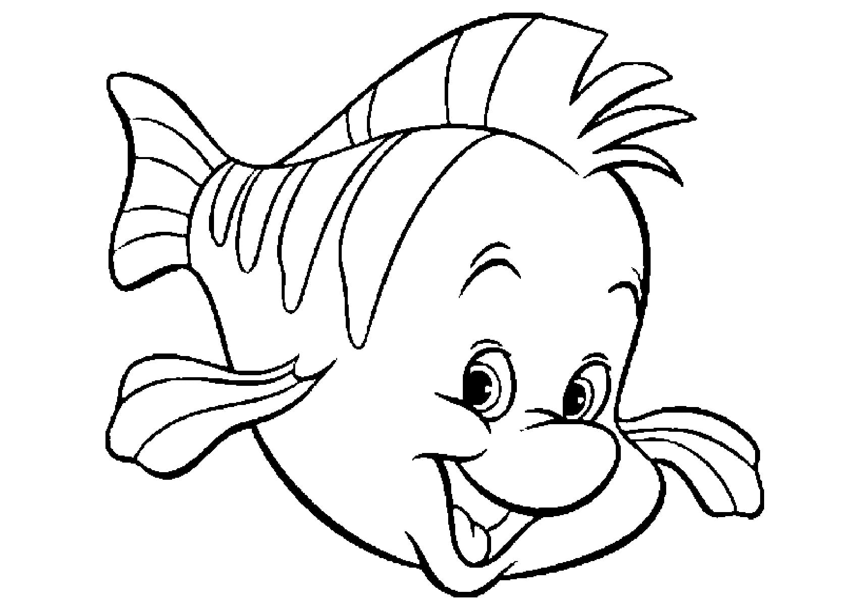Раскраска Рыбка Распечатать