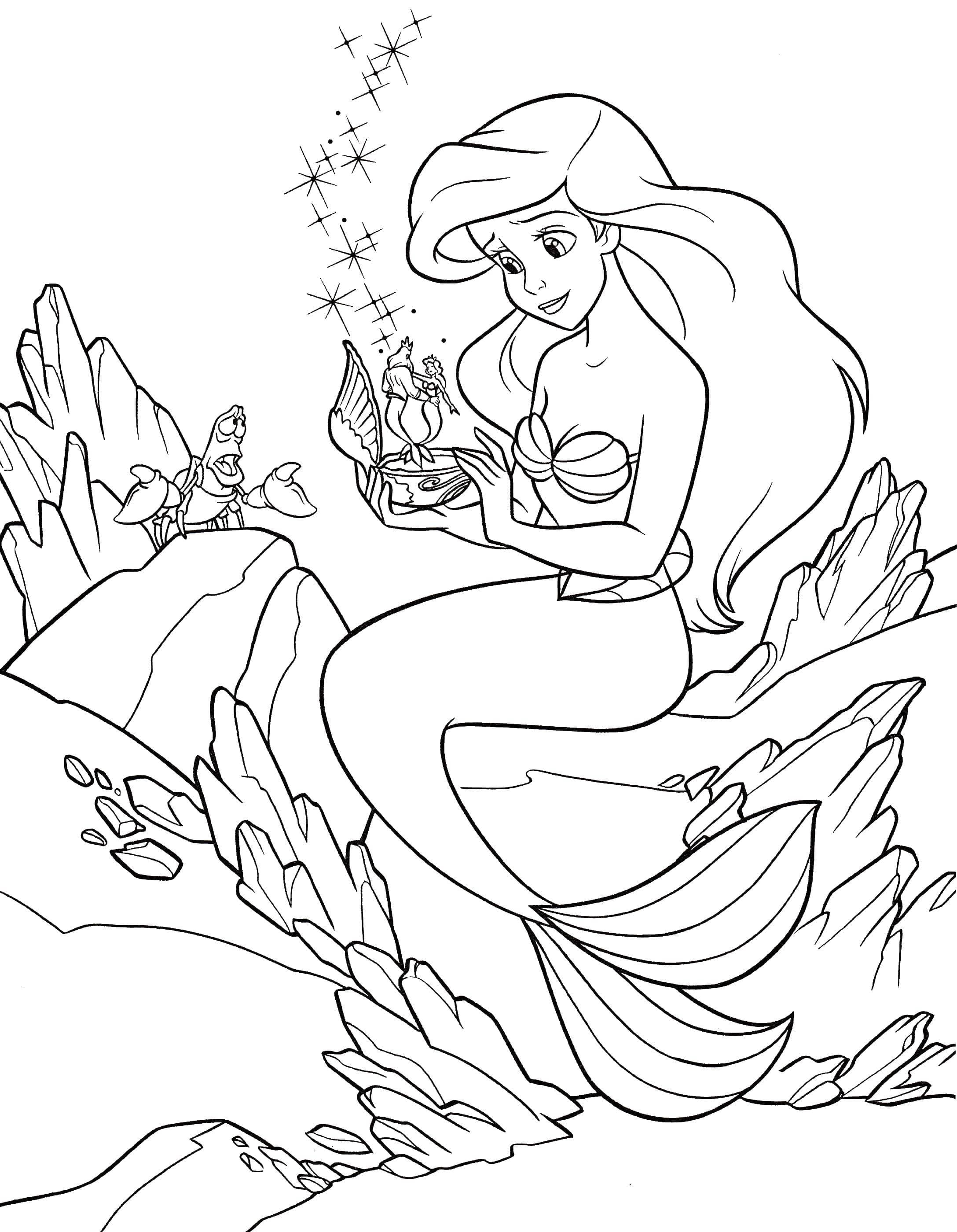 - Coloring Pages Little Mermaid Ariel. Print For Girls, Beautiful Images