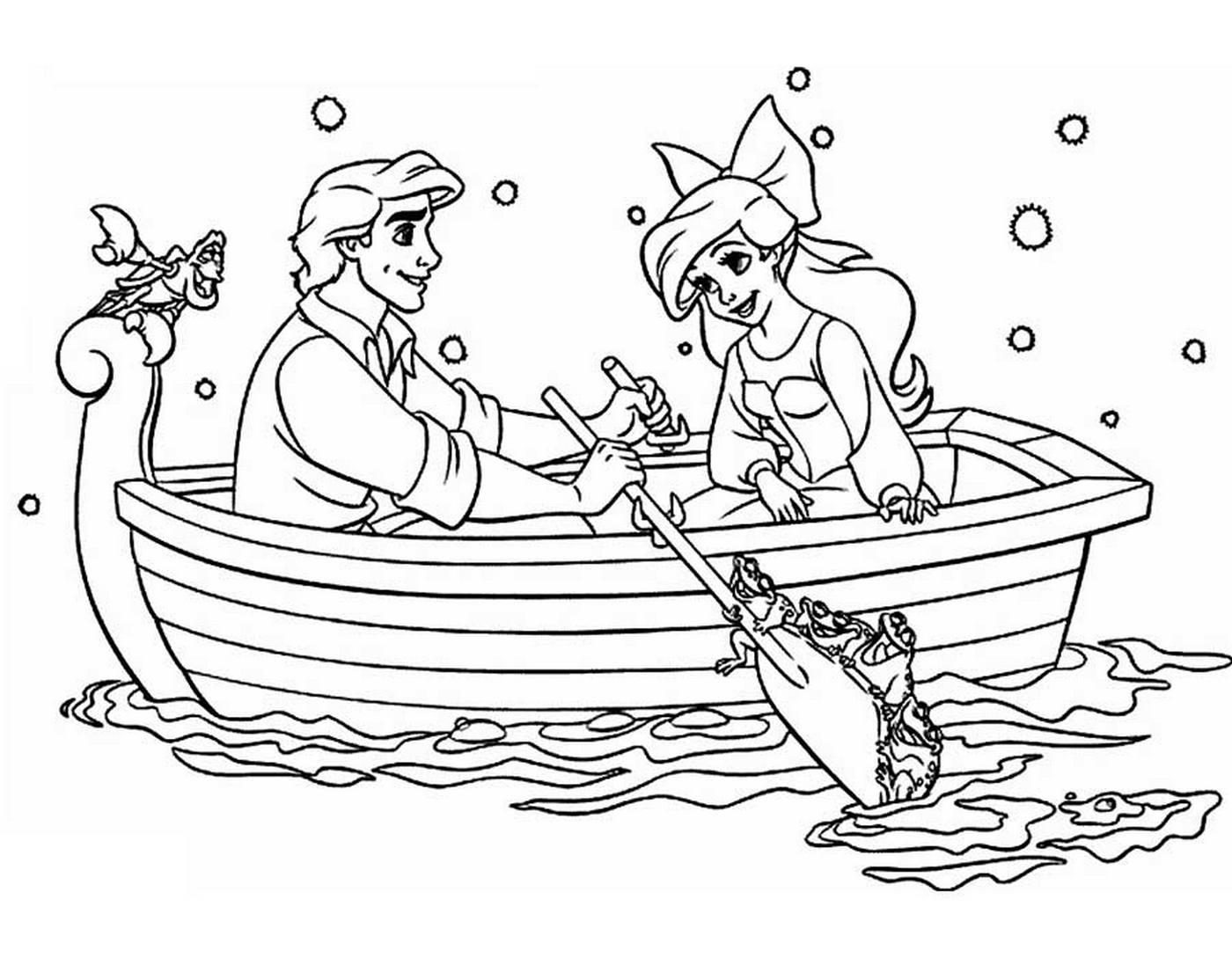 Coloring Pages Little Mermaid Ariel. Print for girls, beautiful images