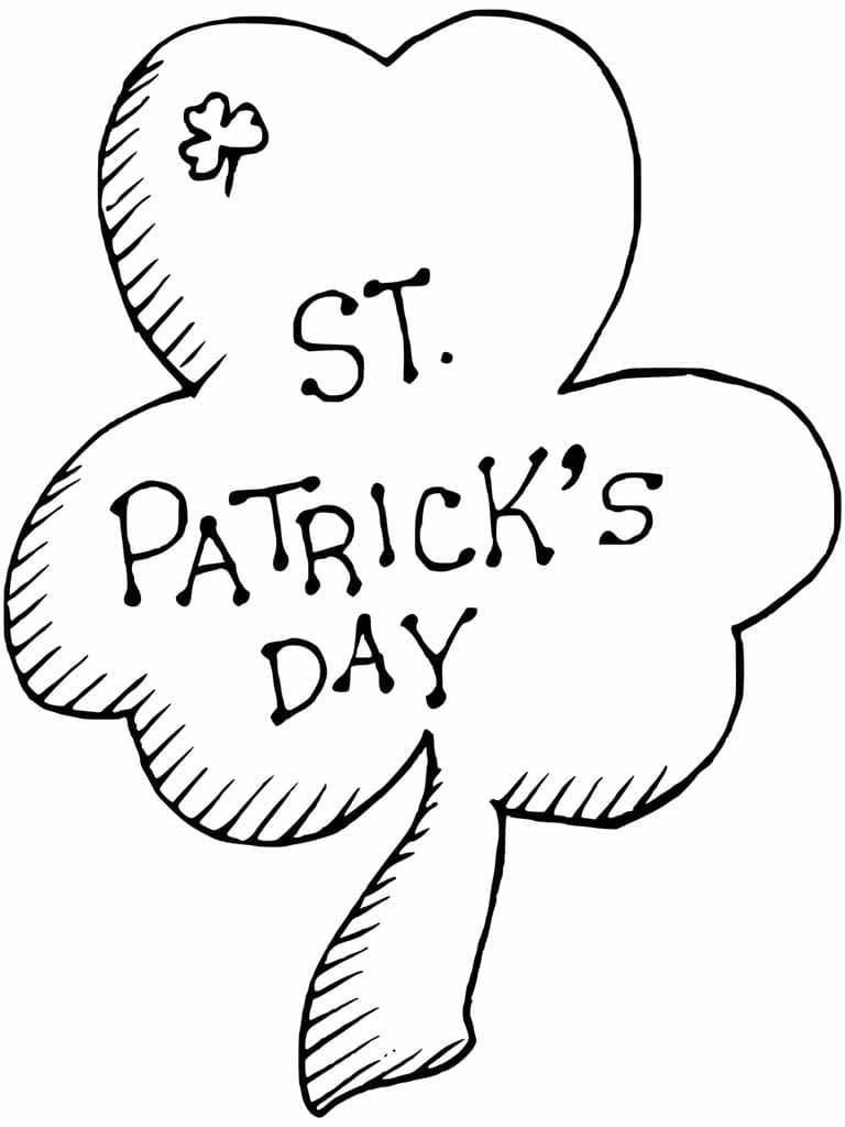 Раскраски Трилистник. День Святого Патрика. Распечатать бесплатно