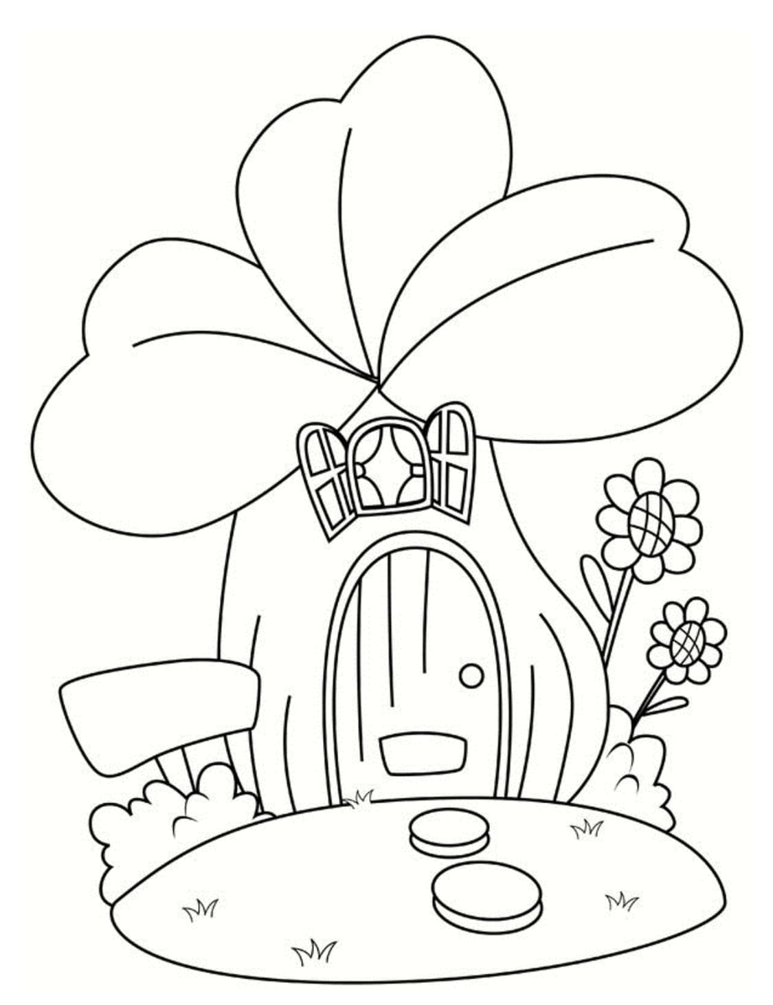 Coloring pages Shamrock. St.Patrick 's Day. Print for free