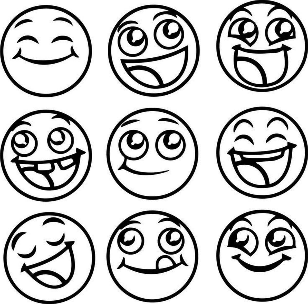 smilies mit brille zum ausmalen  ausmalbilder emoji 50