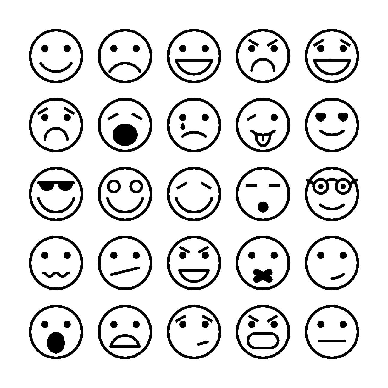 Ausmalbilder Emoji  18 Malvorlagen Smiley Kostenlos zum Ausdrucken