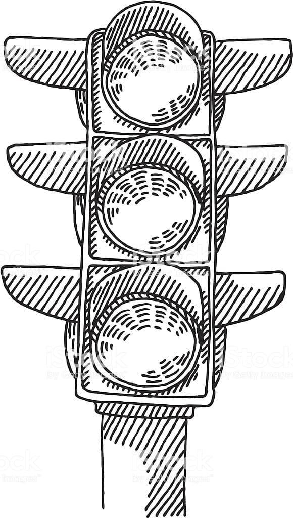 Раскраски Светофор. Распечатать для детей бесплатно