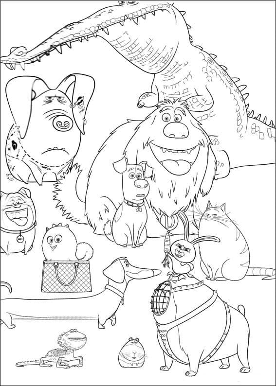 Pagine da colorare Pets - La vita da animali. Stampa gratis