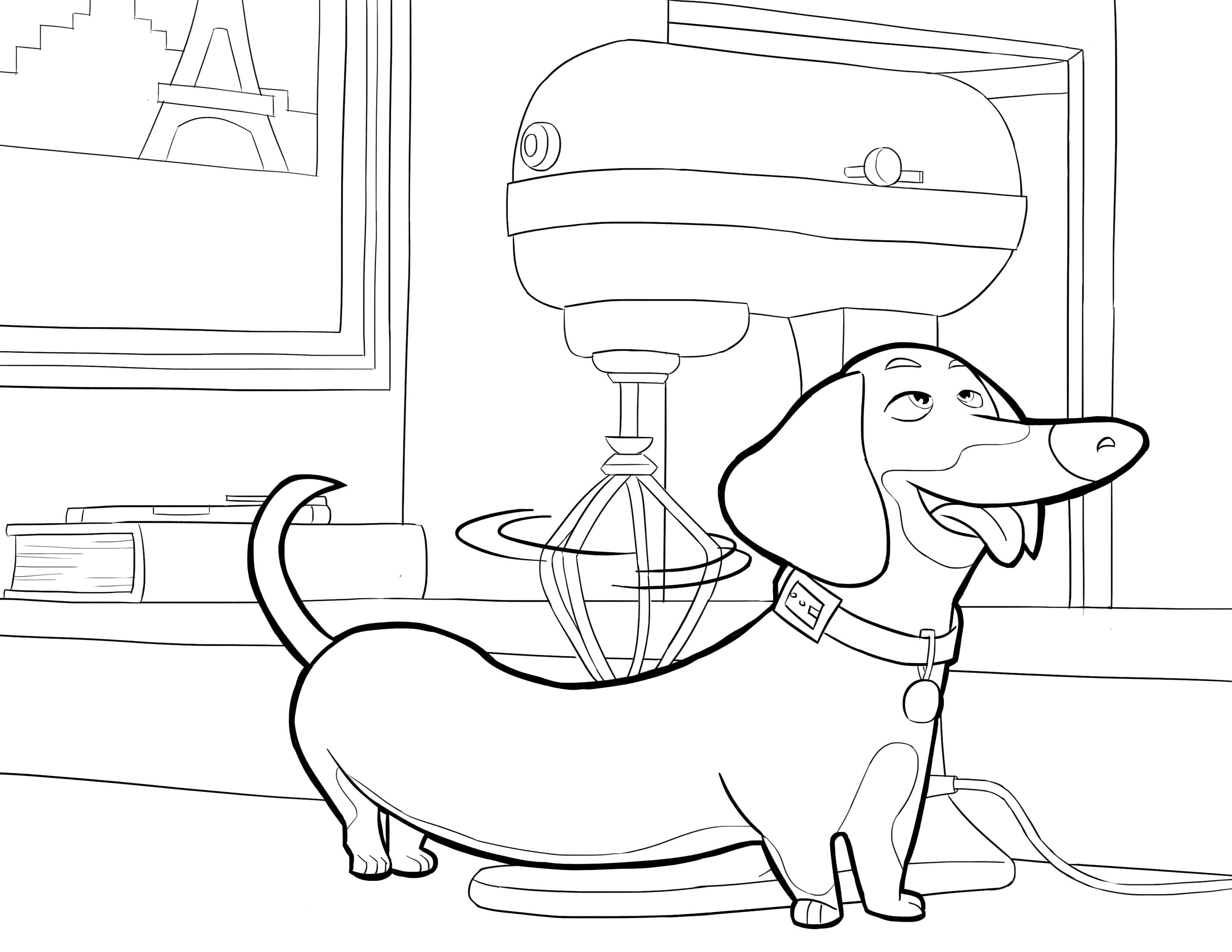 Ausmalbilder Pets, Das geheime Leben der Haustiere. Kostenlos drucken