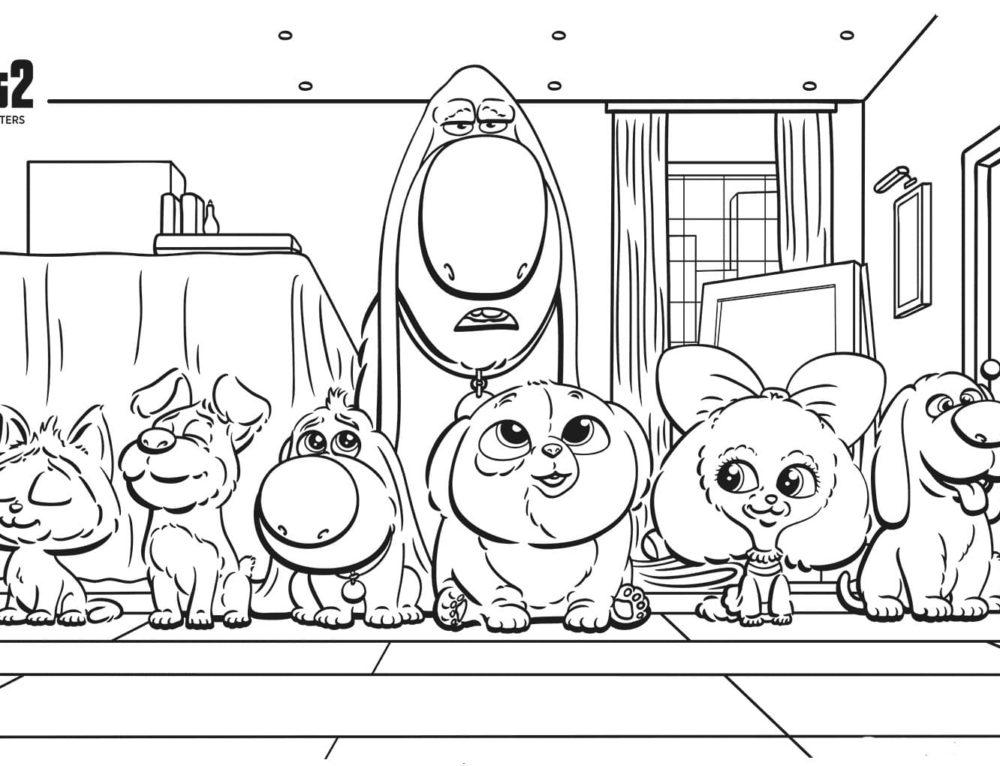 Pagine da colorare Pets – La vita da animali. Stampa gratis