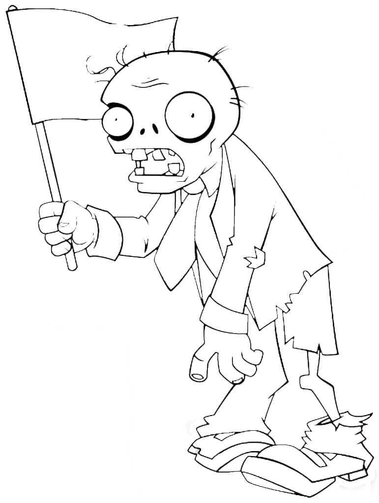 Coloriage Zombies vs Plantes. Imprimez-le gratuitement! Images du jeu