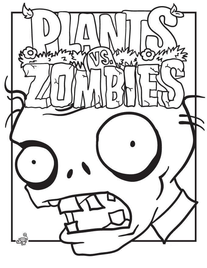 Pagine da colorare con Zombies vs. Plants. Stampa gratis! Immagini tratte dal gioco