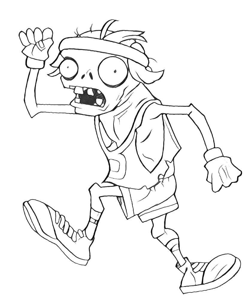 zombie football player coloring pages - photo#39