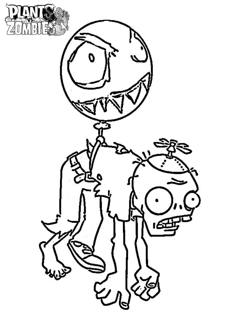Dibujos Para Colorear Zombies Vs Plants Imprímelo Gratis