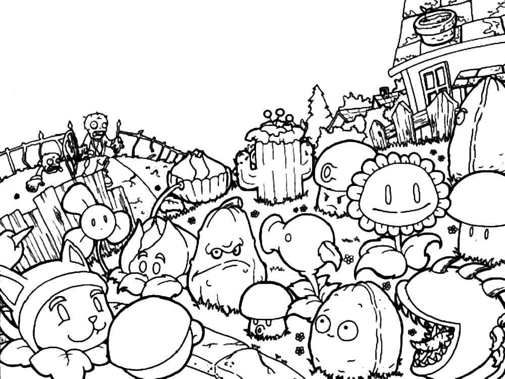 - Zombies Vs. Plants Coloring Pages. Print For Free! Pictures From The Game