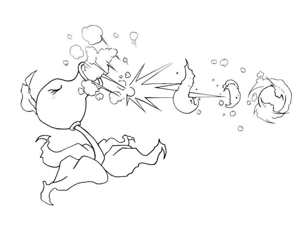 Раскраски Зомби против Растений. Распечатайте бесплатно! Картинки по игре