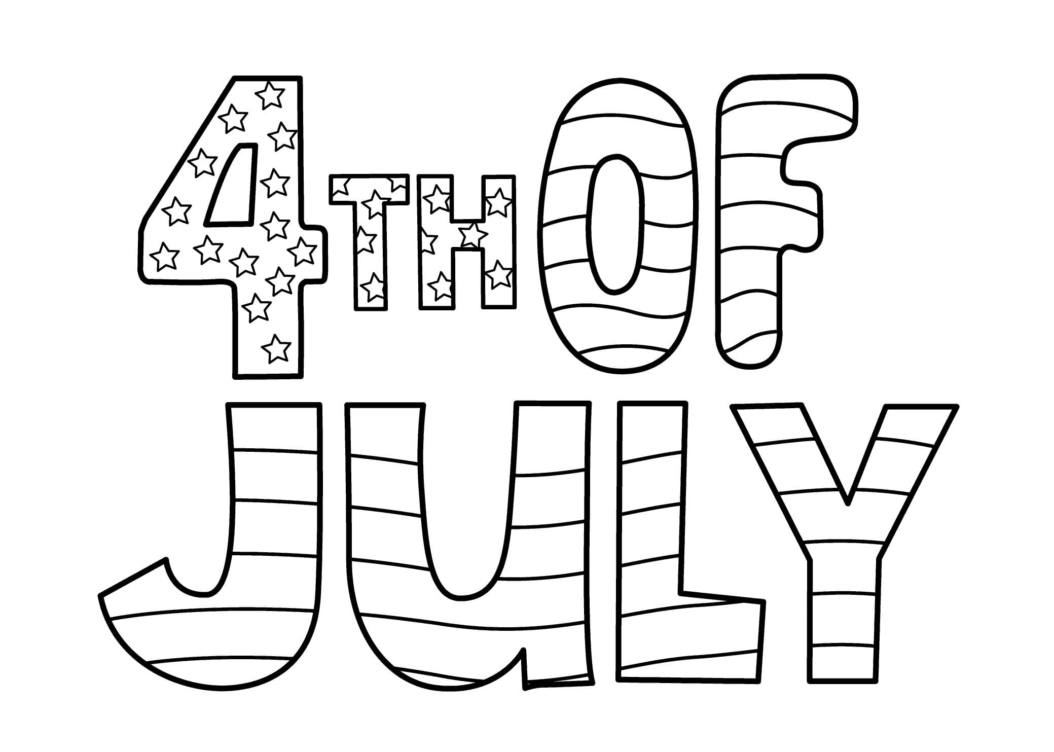 4th Of July Coloring Pages Independence Day Free Printable