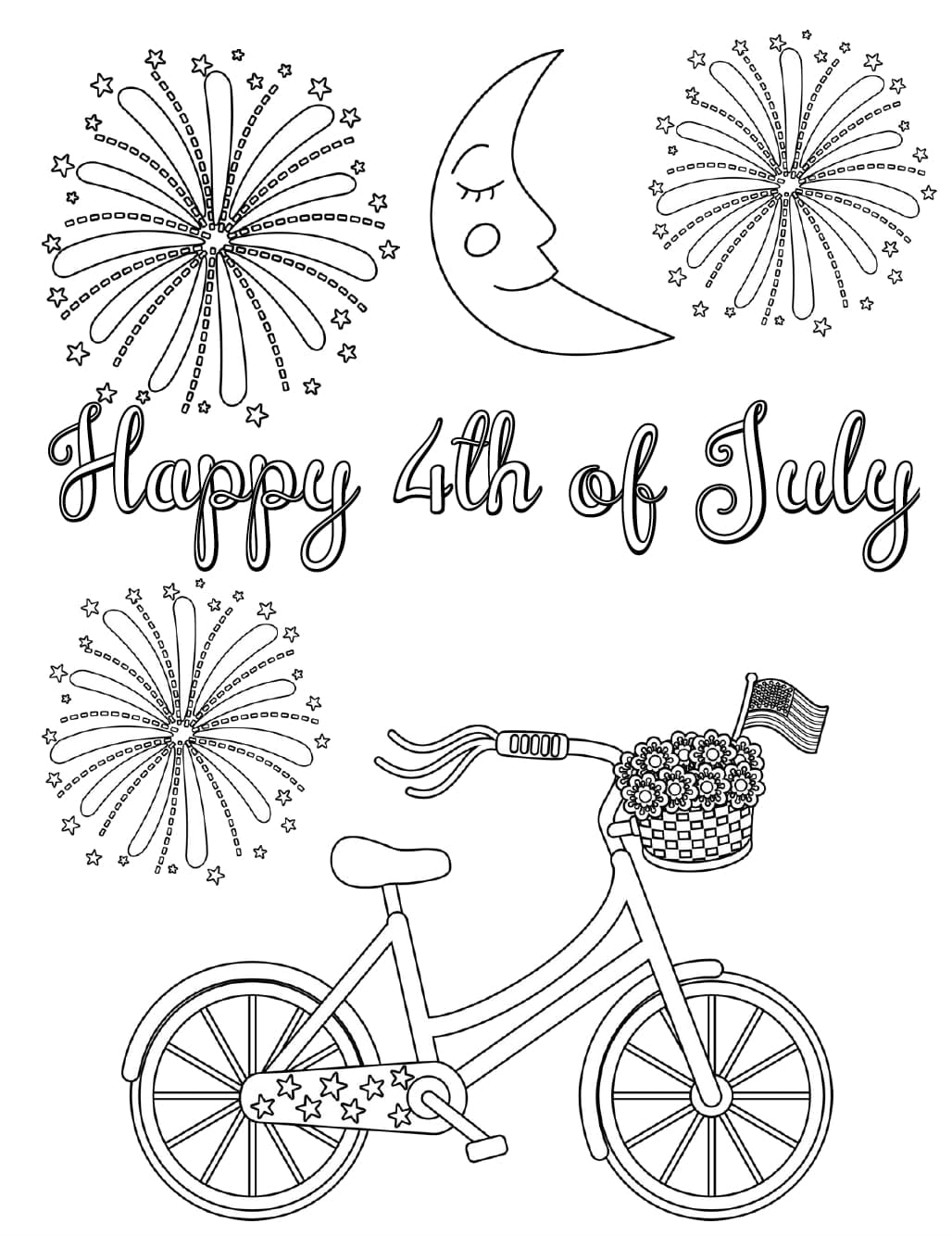 4th Of July Coloring Pages. Independence Day Free Printable