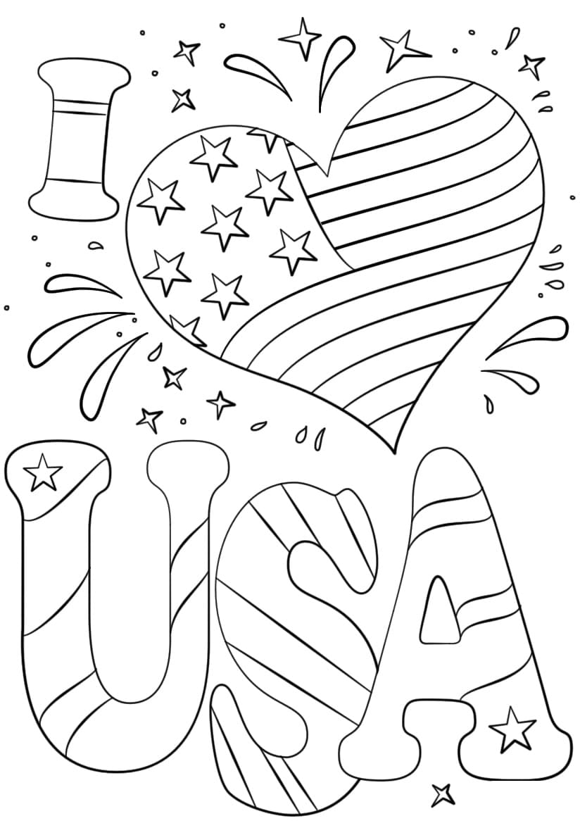 4th Of July Coloring Pages. Independence Day Free Printable | 1186x824