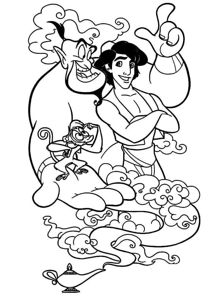 Aladdin Coloring Pages 100 Images Free Printable