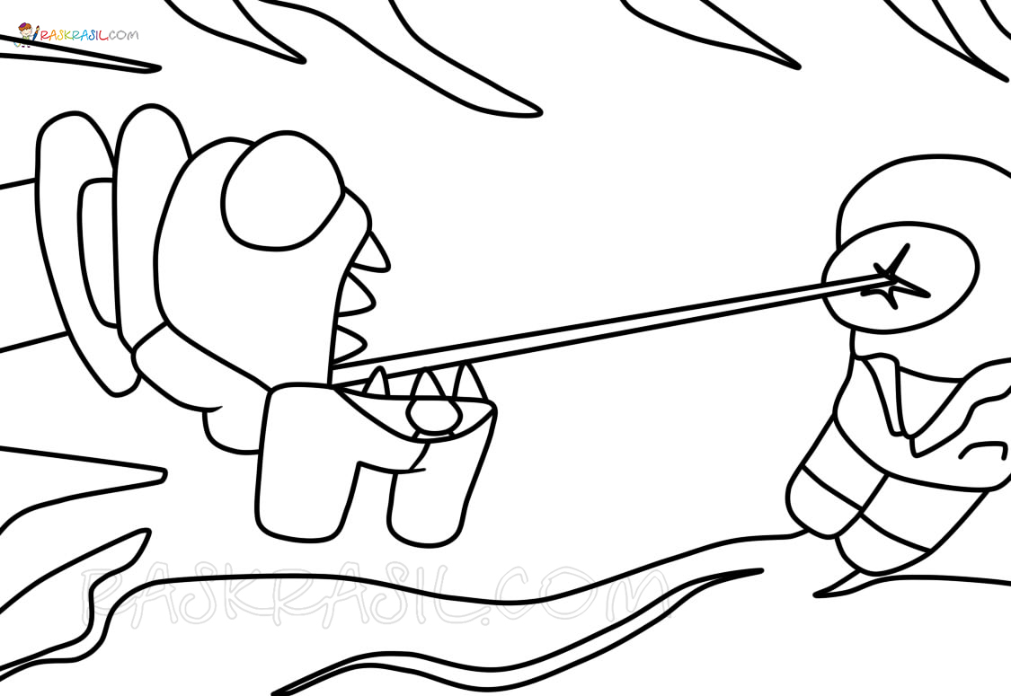 Among Us Coloring Pages   18 Best Coloring Pages Free Printable