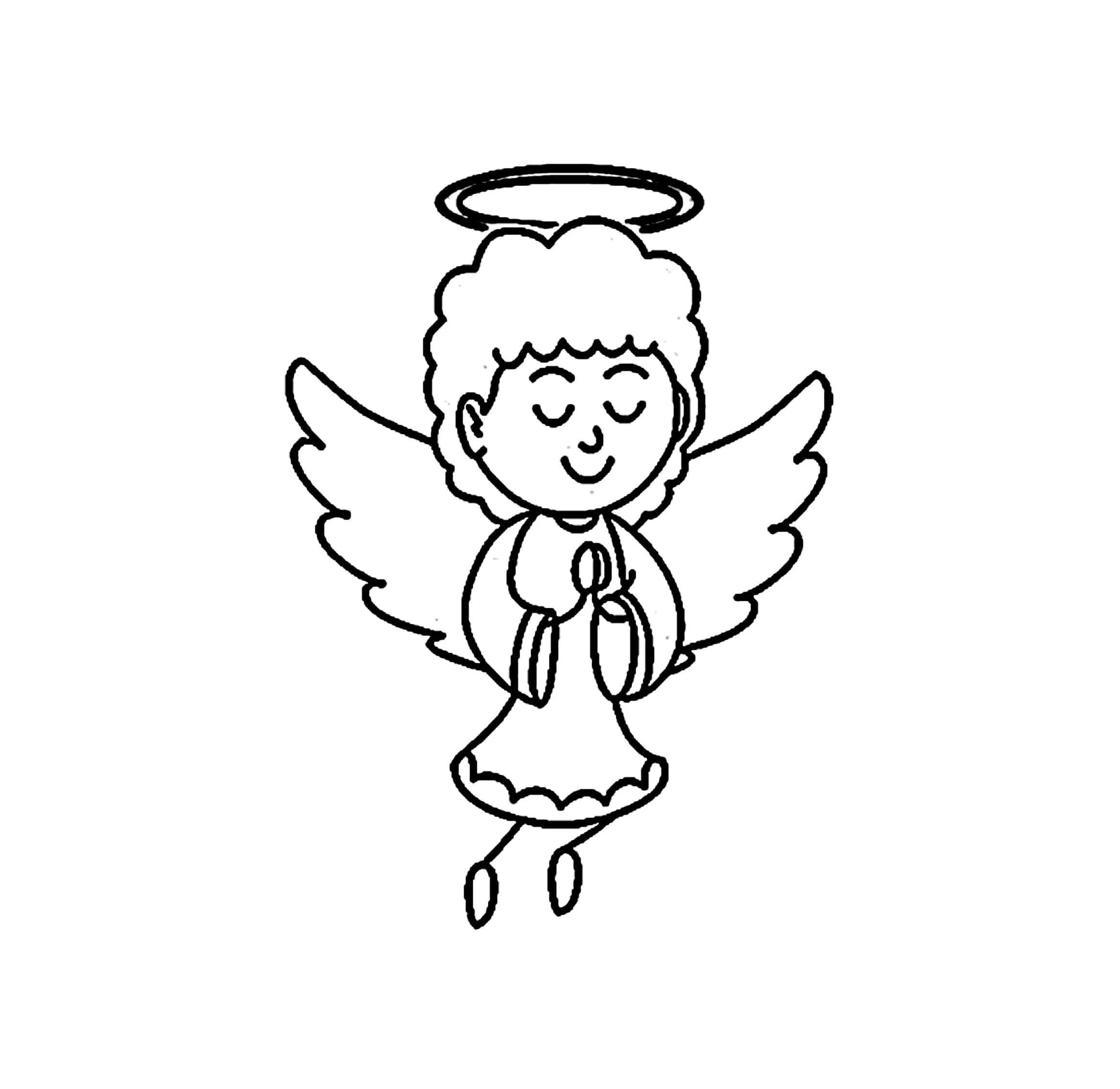 Ausmalbilder Engel  25 Malvorlagen zum kostenlosen Drucken