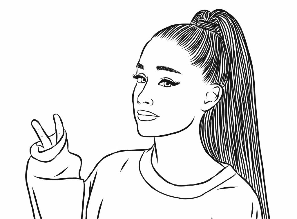 Disegni Di Ariana Grande Da Colorare Stampa Gratuitamente