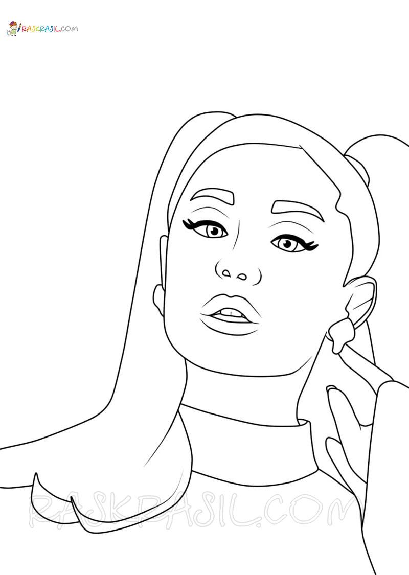 Ausmalbilder Ariana Grande. Beste Sammlung kostenlos zum Drucken
