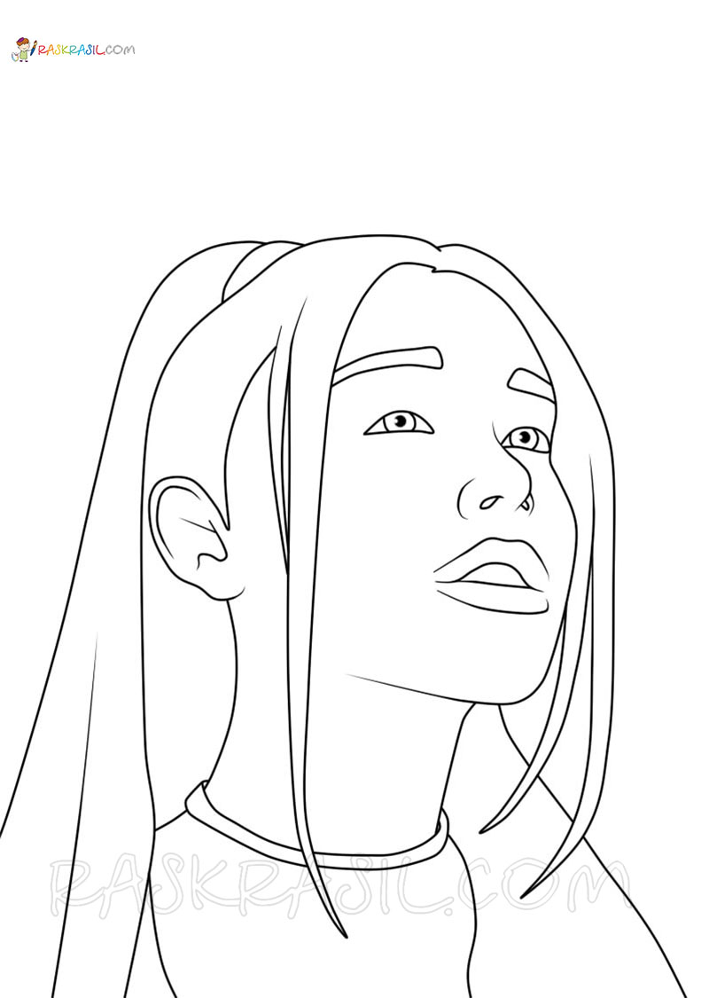 Ariana Grande Coloring Pages Best Collection Free Printable