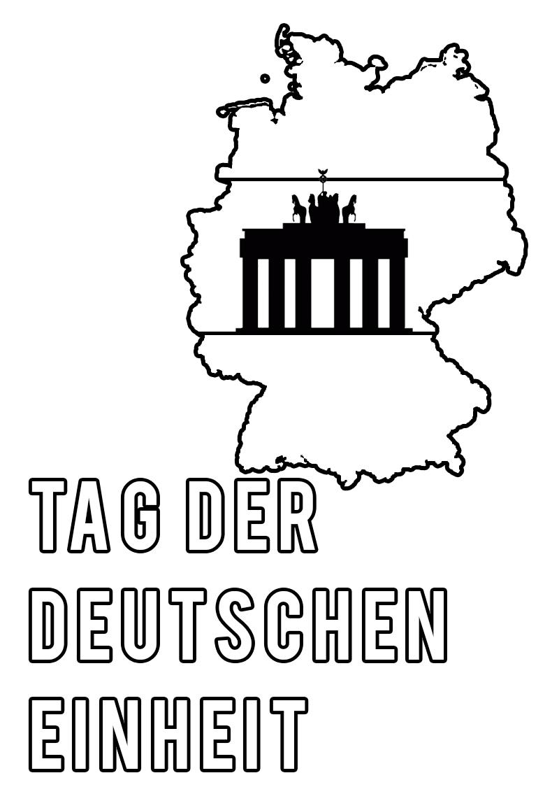 Malvorlagen Der Tag der deutschen Einheit. Herunterladen oder drucken