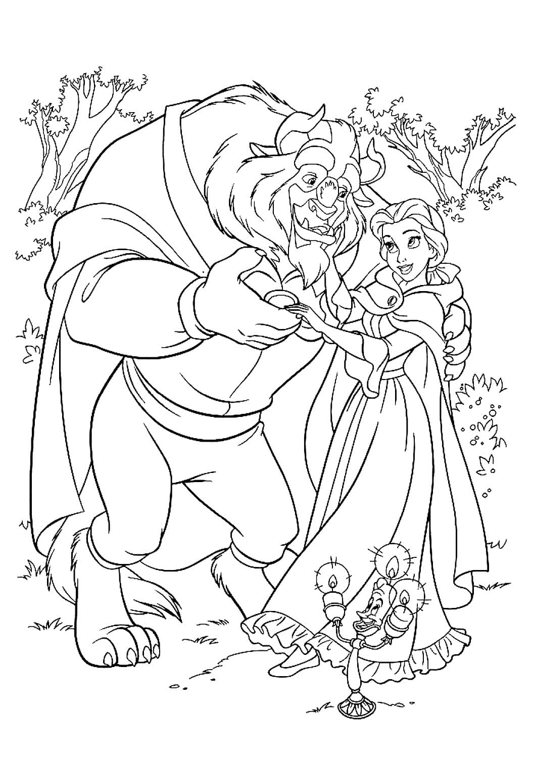 Beauty And The Beast Coloring Pages 100 Images Free Printable