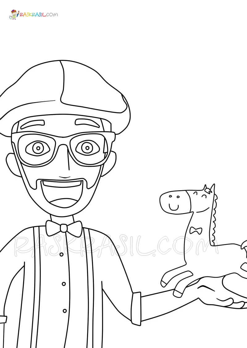 Blippi Coloring Pages   25 Coloring Pages Free Printable