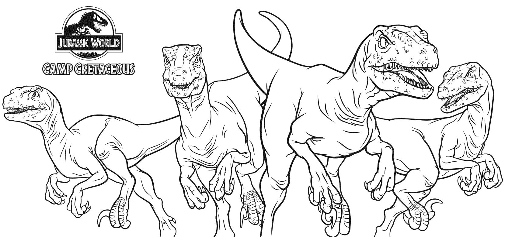 Ausmalbilder Jurassic World - Camp Cretaceous  Kostenlos drucken