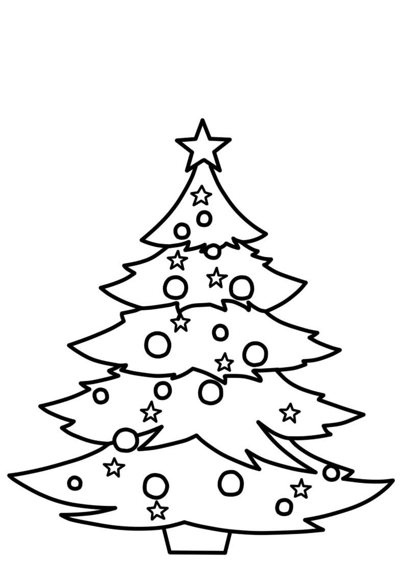 Ausmalbilder Weihnachtsbäume. 18 kostenlose Bilder zum Drucken