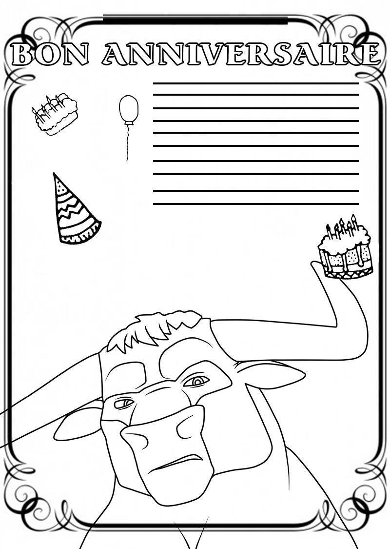 Coloriage Anniversaire. Imprimez la meilleure collection de cartes à colorier