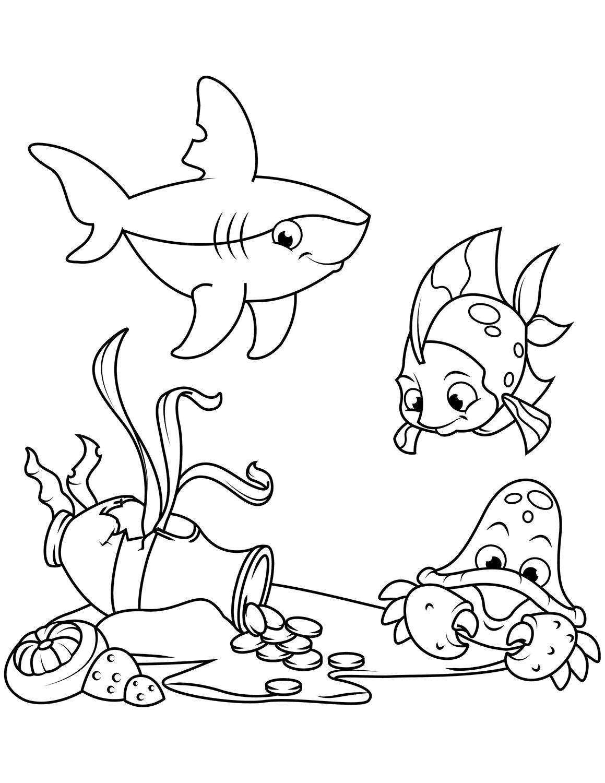 Ausdrucken bunt zum fische Vorlage Fisch