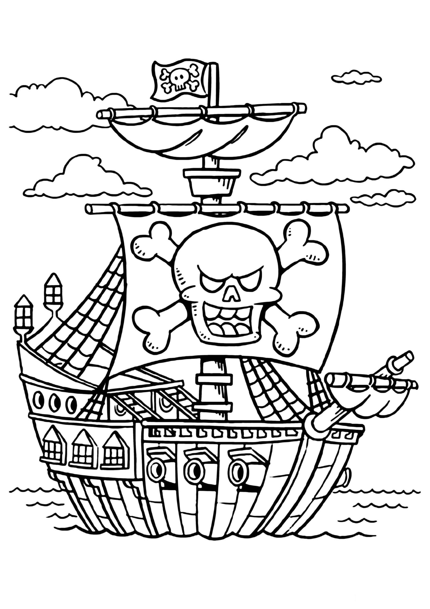 Ausmalbilder Piraten  5 Malvorlagen Kostenlos zum Ausdrucken