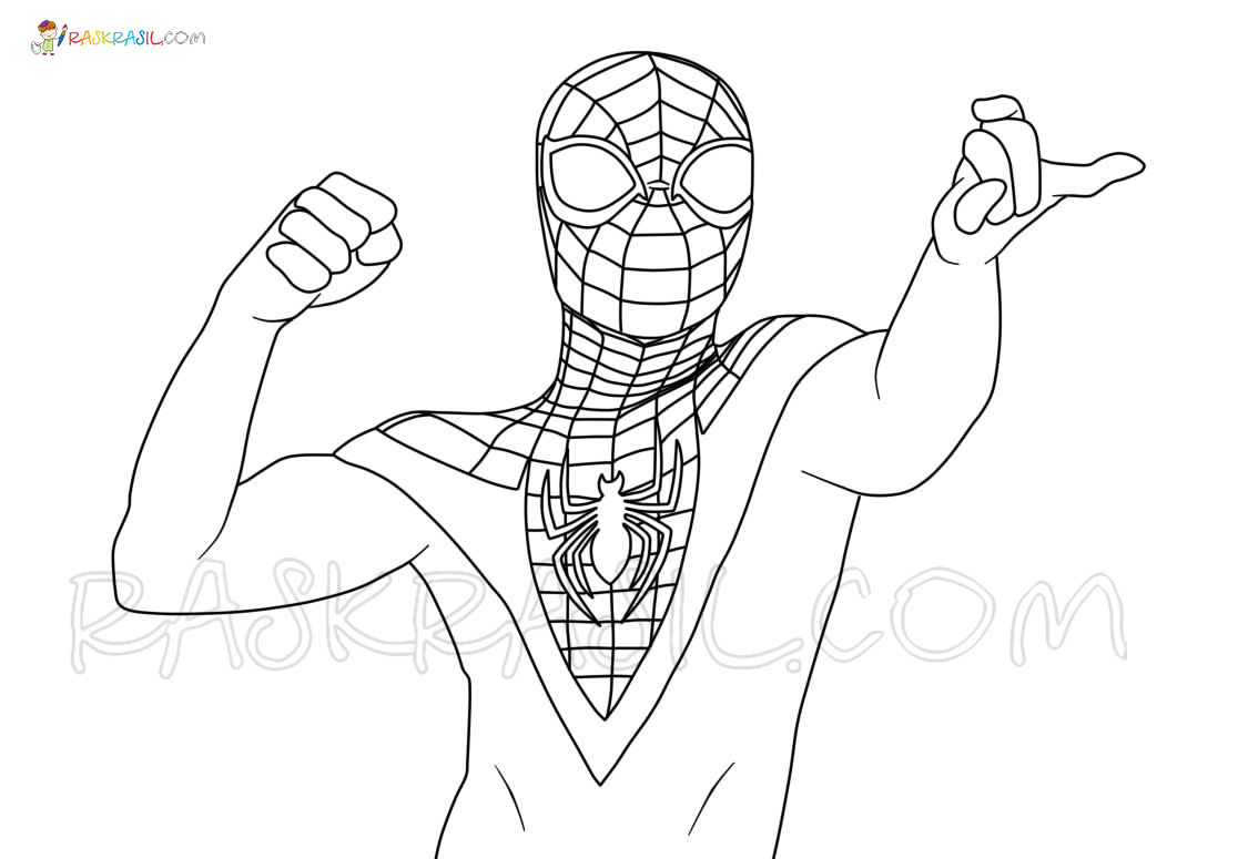 Miles Morales Spider Man Ps4 Coloring Pages - img-Aaron