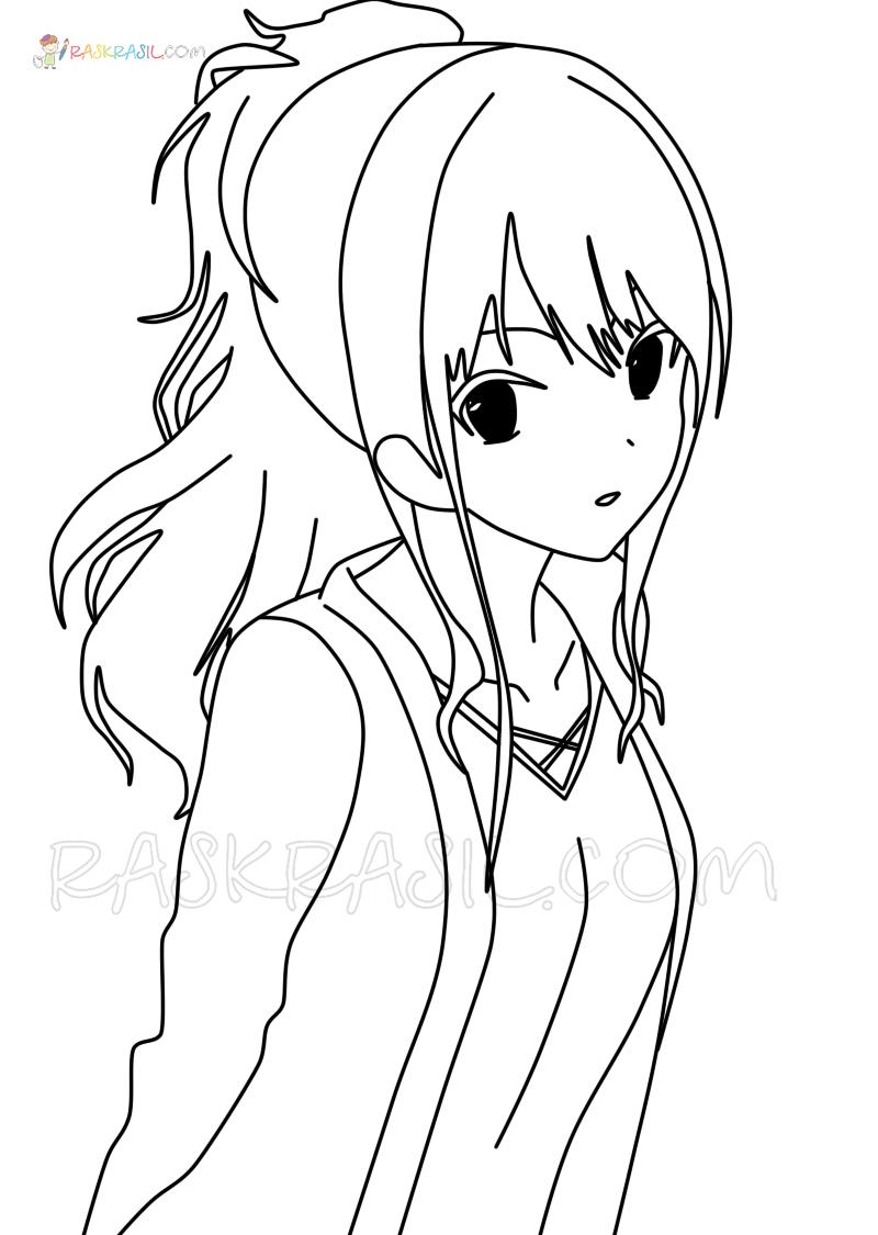Ausmalbilder Anime Mädchen  24 Malvorlagen zum kostenlosen Drucken
