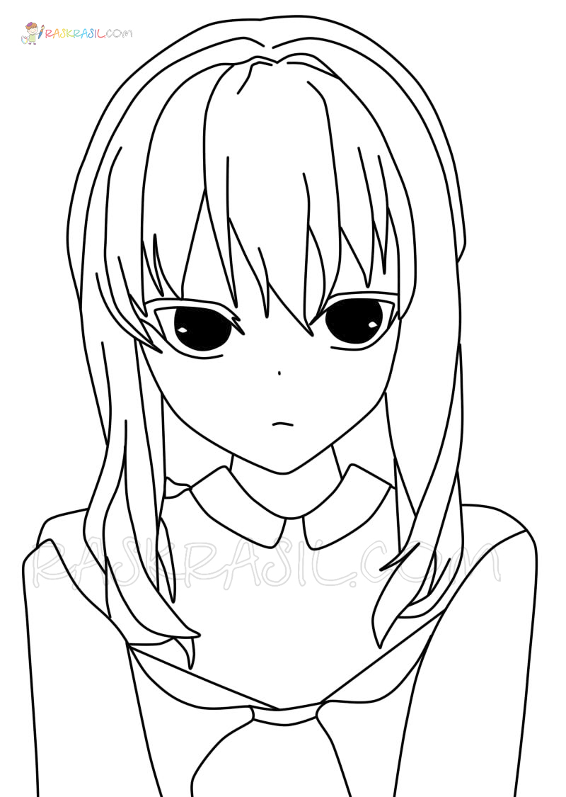 Anime Girls Coloring Pages 100 Best Images Free Printable