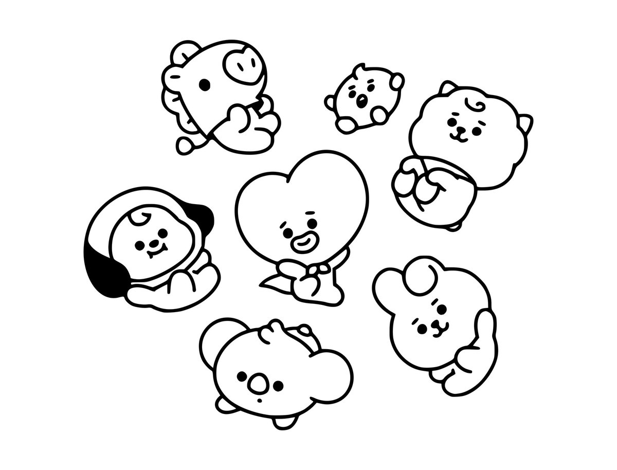 Bt21 Coloring Pages 25 New Coloring Pages Free Printable