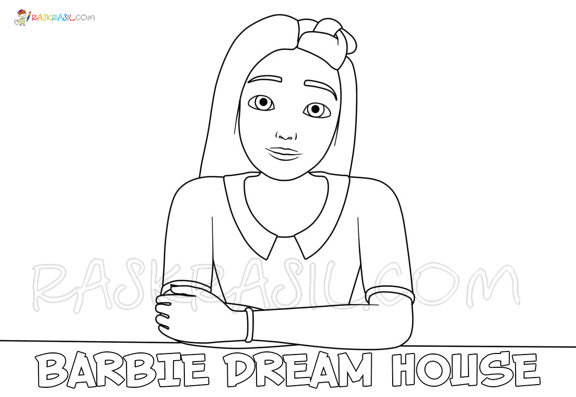 Barbie Dream House Coloring Pages New Images Free Printable