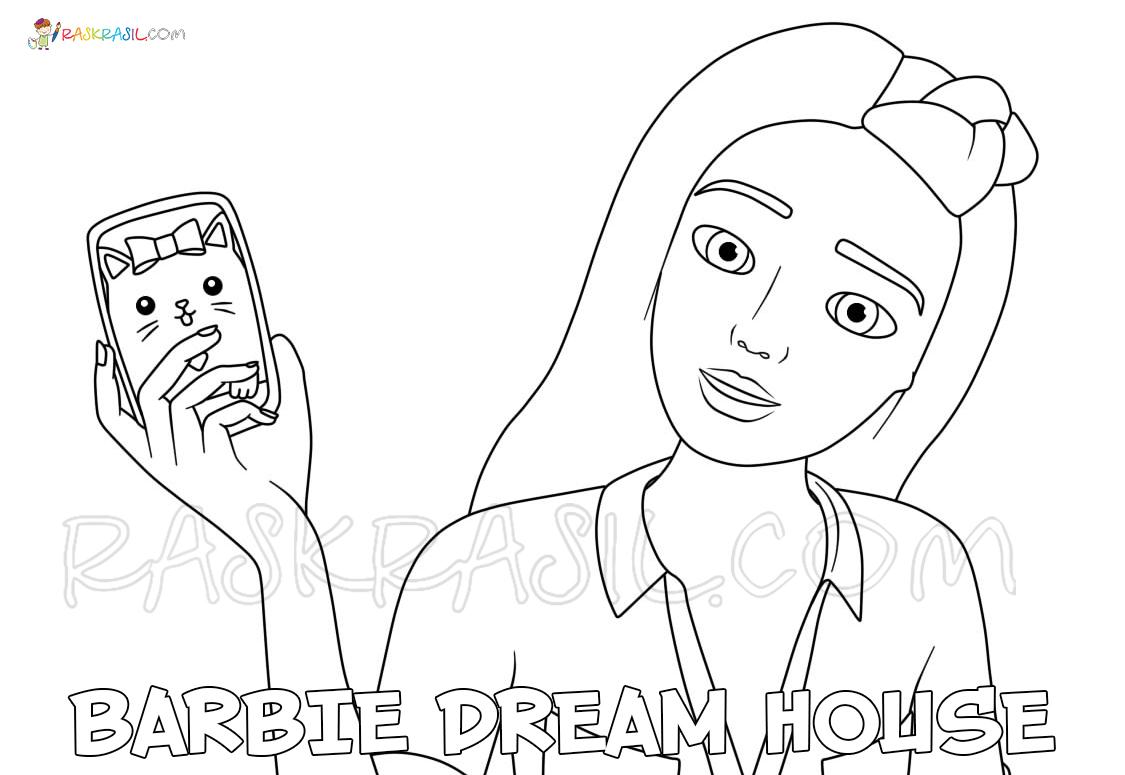 Раскраска Барби Дом Мечты - Распечатать бесплатно