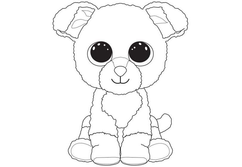 Раскраски Мягкие игрушки TY - Распечатать бесплатно