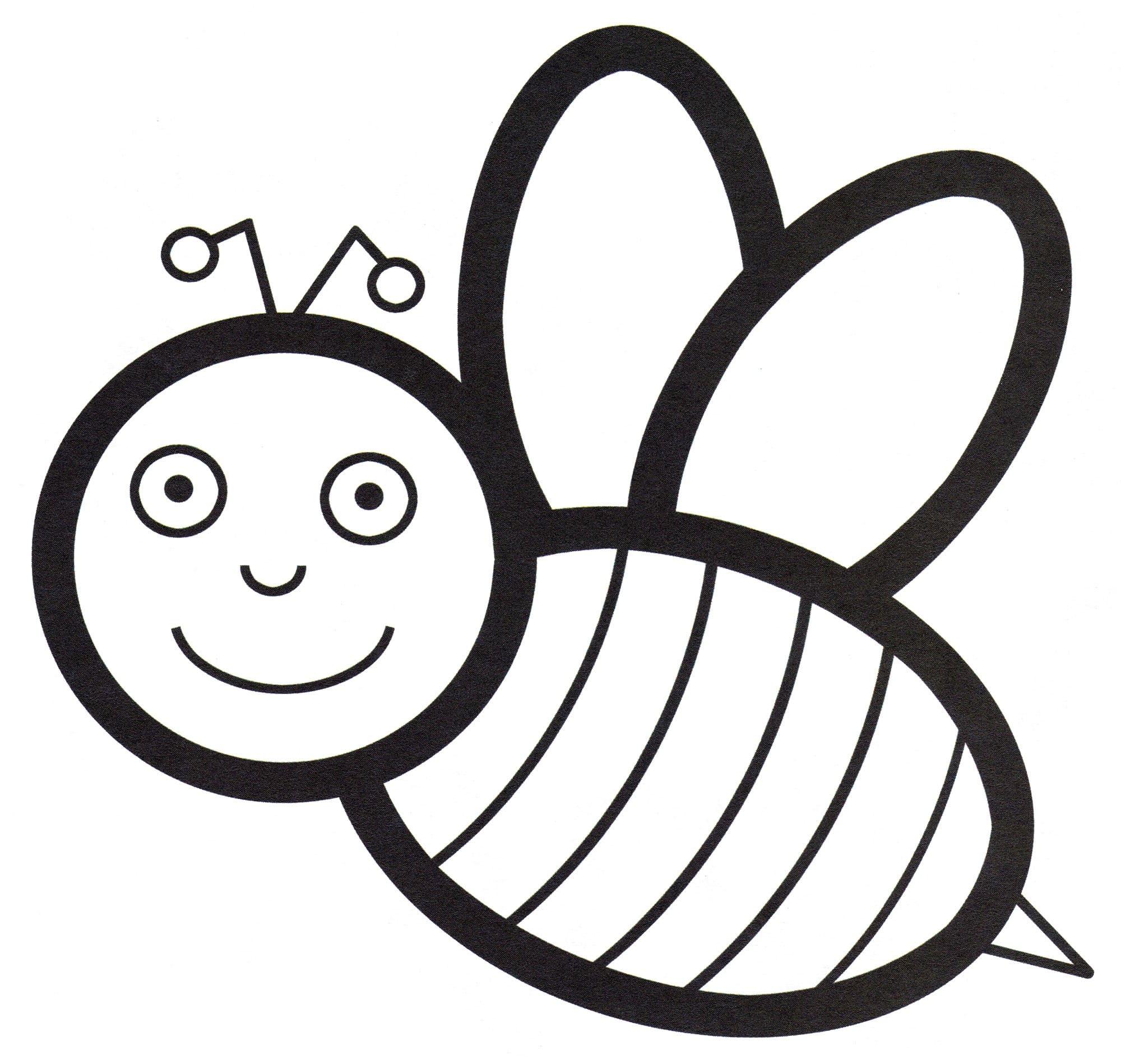 Ausmalbilder Bienen  5 Malvorlagen Kostenlos zum Ausdrucken