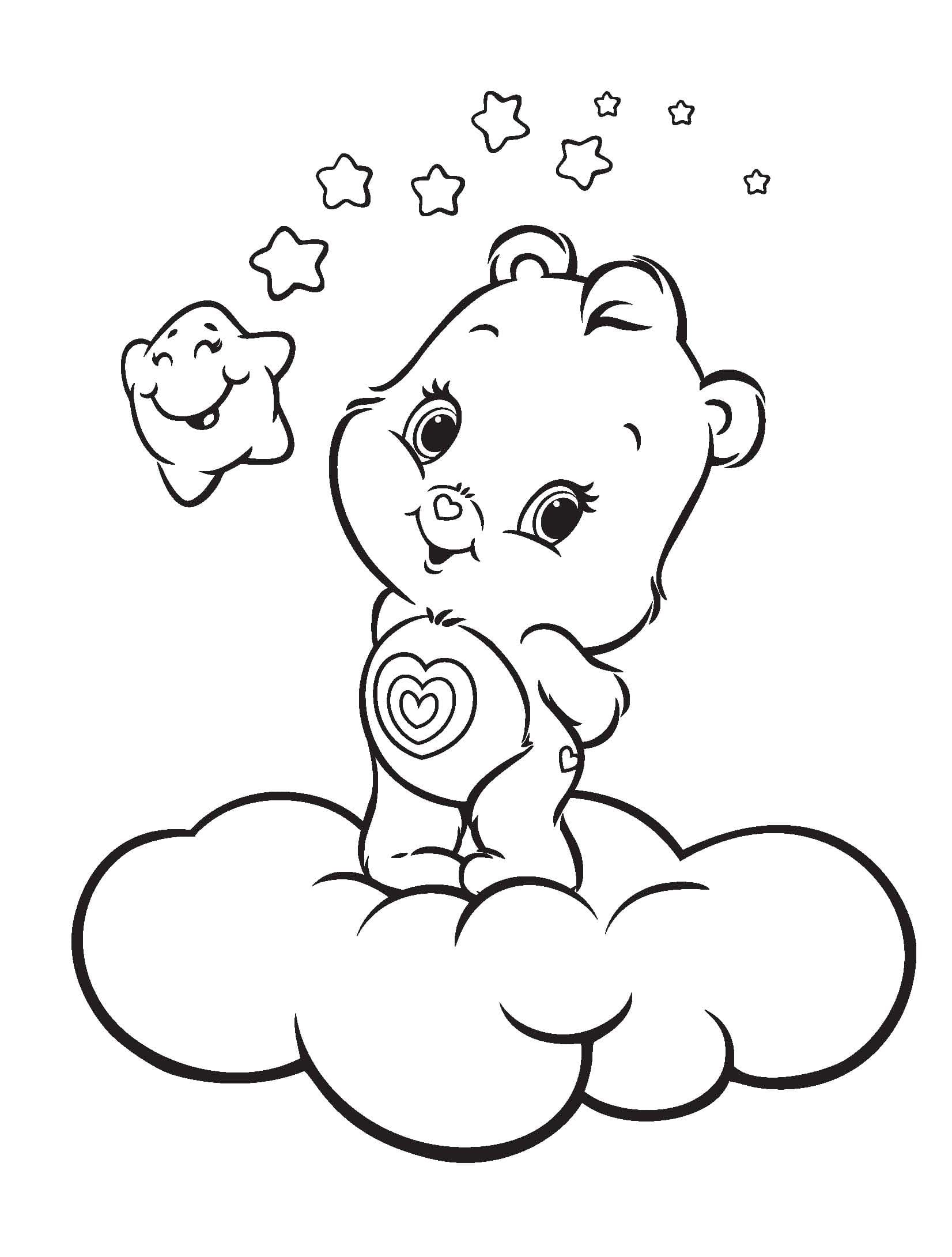 Care Bears Coloring Pages   30 images Free Printable