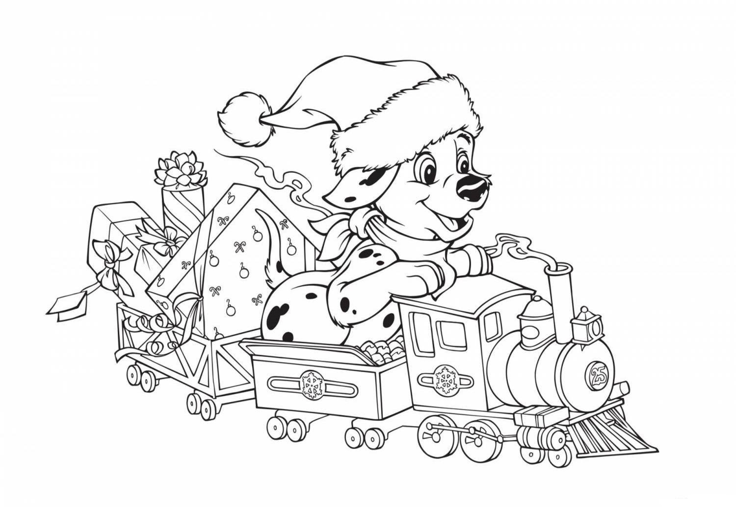 Christmas Puppy Coloring Pages 60 Images Free Printable
