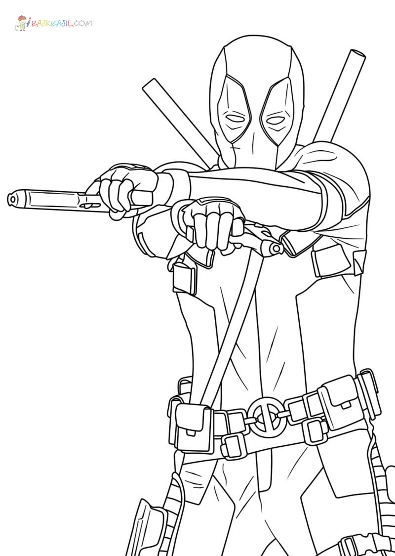 Ausmalbilder Deadpool  18 Malvorlagen Kostenlos zum Ausdrucken