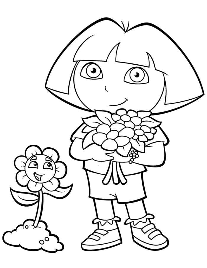 Dora The Explorer Coloring Pages 100 Pictures Free Printable