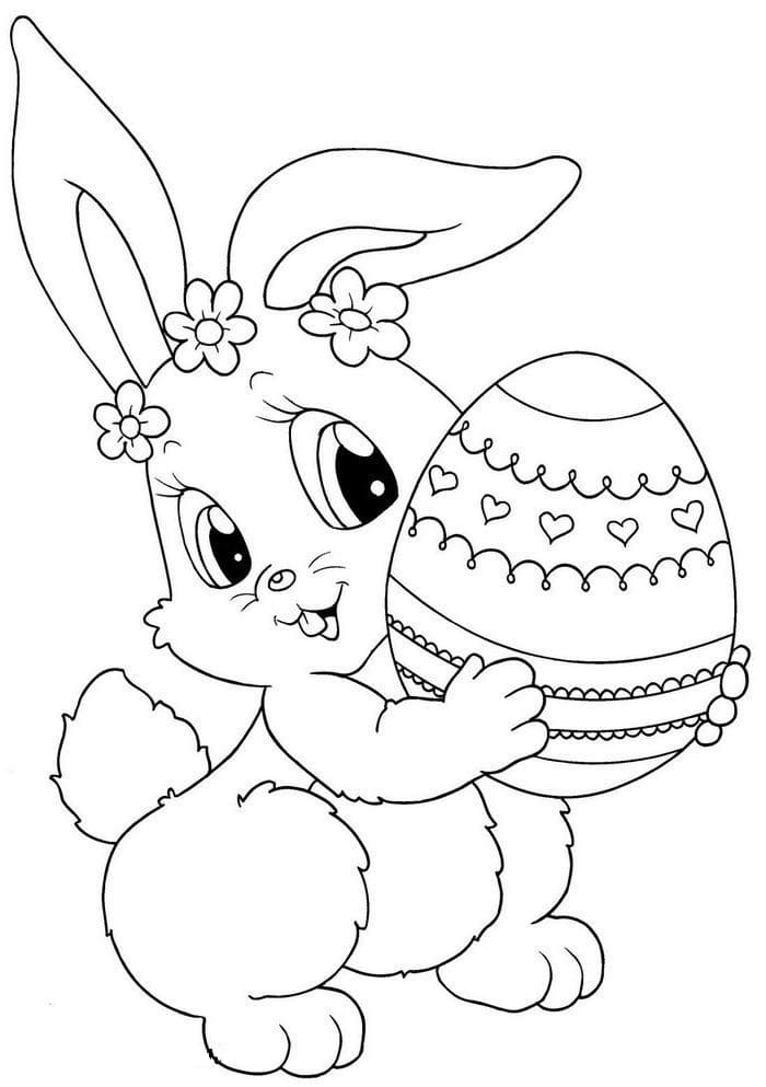 Easter Bunny Coloring Pages 100 Images Free Printable