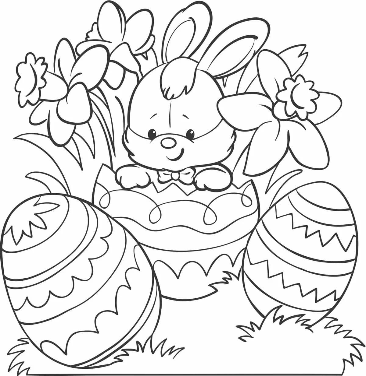 Easter Bunny Coloring Pages   18 images Free Printable