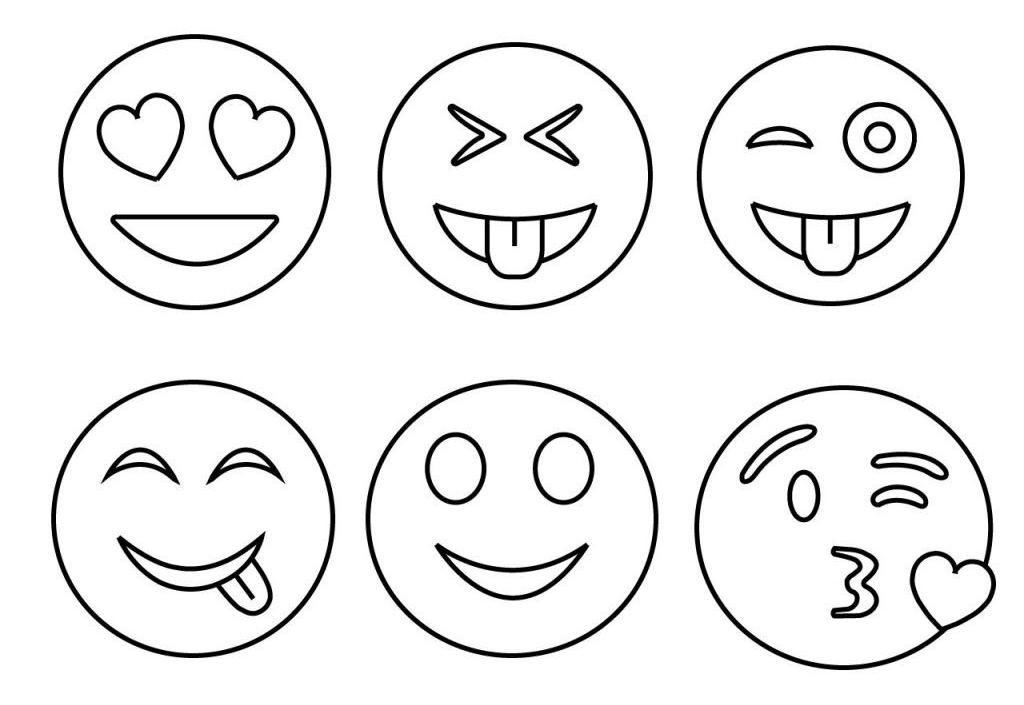 ausmalbilder emoji  50 smiley malvorlagen zum kostenlosen