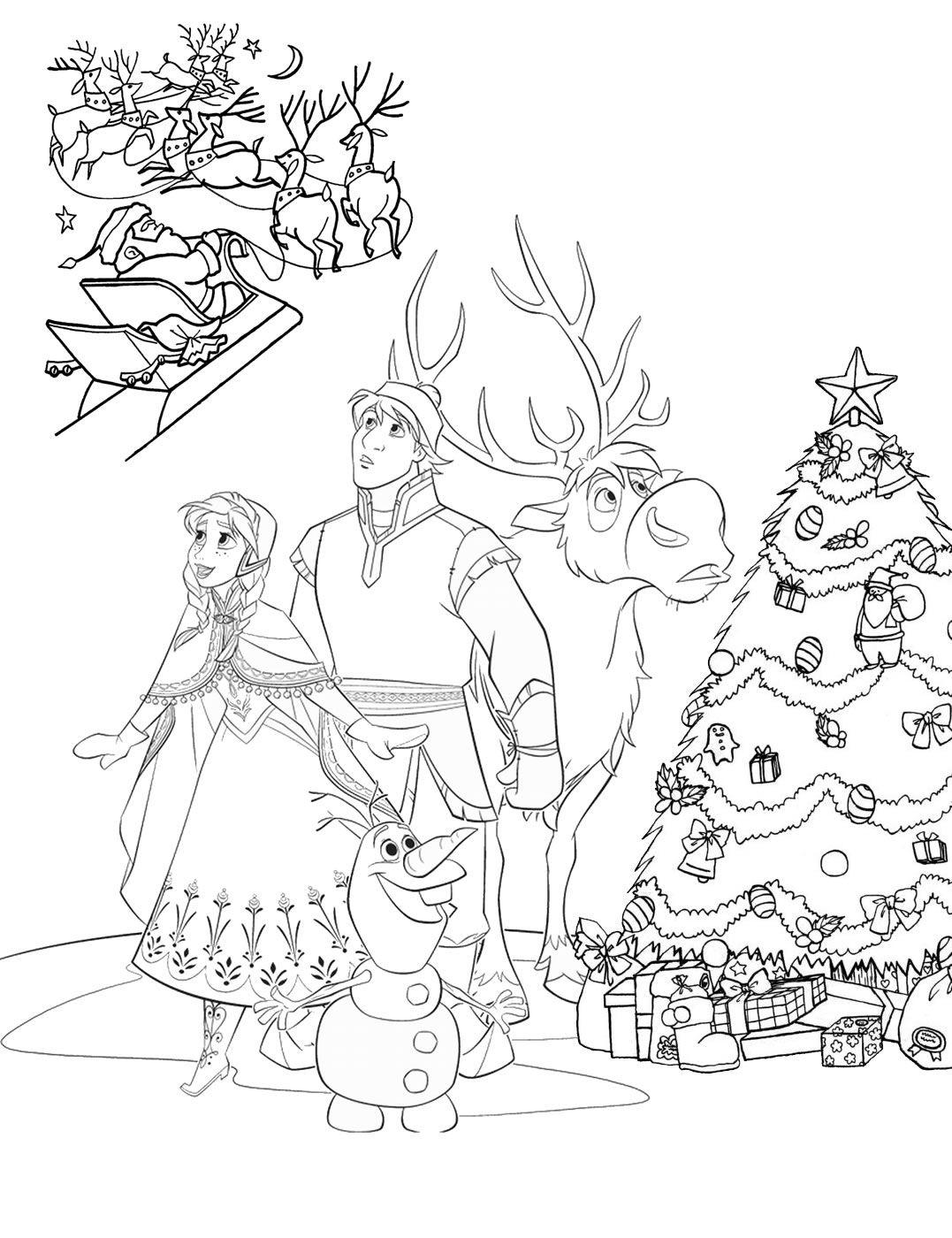 anna und elsa ausmalbilder weihnachten  malvorlage